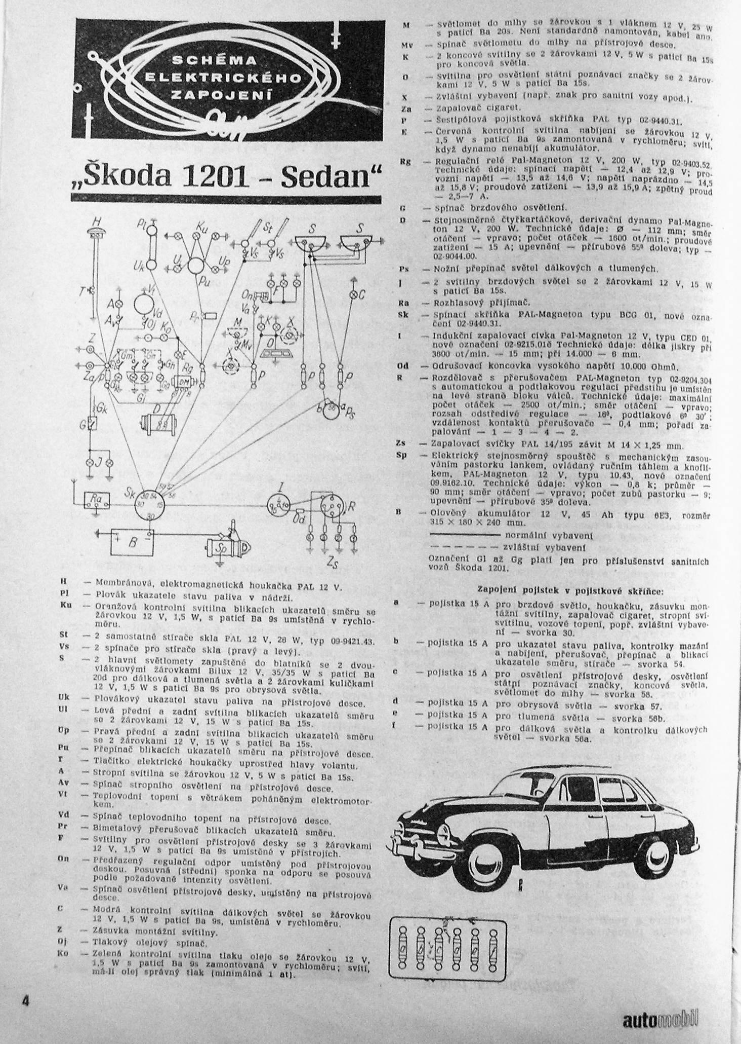 Schema Elektricke Instalace Skoda 1201